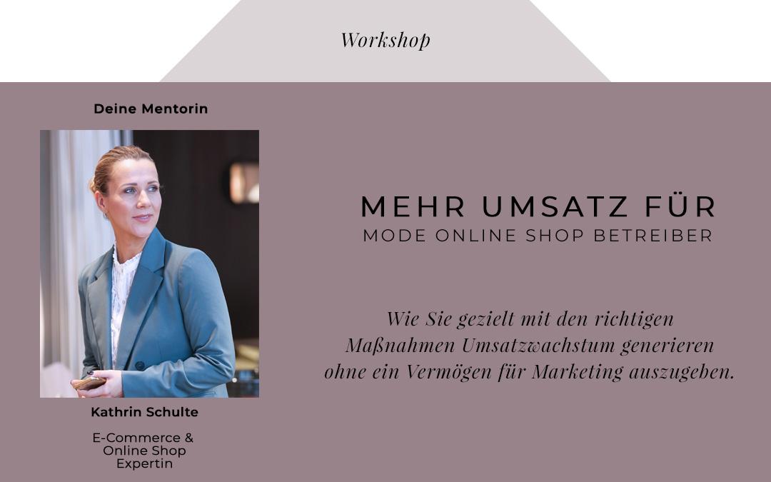 Live-Workshop: Mode Online Marketing für Online Shop